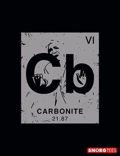 """""""Carbonite"""" black t-shirt"""
