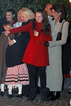 .Princess Caroline with her younger daughter, Princess Alexandra