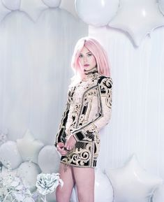 full-on OBSESSED with Elizabeth Olsen's dreamy pink-haired spread in the new issue of Bullet!