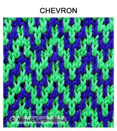 Mosaic Knitting - How to knit the CHEVRON stitch. Free pattern includes written instructions and PDF file