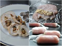 Ballotines de volaille au Carré Frais - Dans la cuisine d'Audinette No Salt Recipes, Chicken Recipes, Fish And Meat, Food To Make, Food And Drink, Yummy Food, Favorite Recipes, Healthy Recipes, Snacks