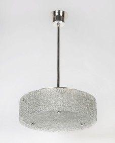 Kaiser glass drum pendant