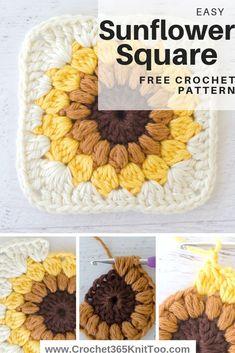 Sunburst Granny Square - Crochet 365 Knit Too Easy crochet sunburst granny squa. Sunburst Granny Square – Crochet 365 Knit Too Easy crochet sunburst granny square. Crochet Simple, Crochet Diy, Crochet Crafts, Yarn Crafts, Easy Crochet Projects, Easy Things To Crochet, Crochet Owls, Crochet Mandala, Crochet Motif