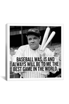 For the baseball fan a Canvas Print: Babe Ruth Quote