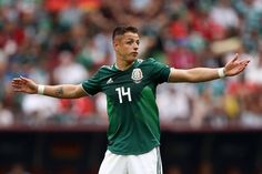 f00b95adc Javier Hernandez Photos - Javier Hernandez of Mexico reacts during the 2018  FIFA World Cup Russia