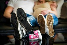 These shoes will be filled soon! Photo idea for parents to be.