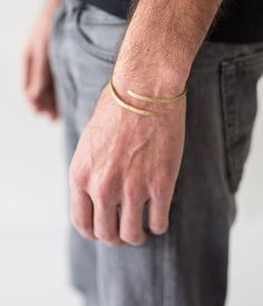 Men's Unique Jewelry, Men's Brass Jewelry, Adjustable Bracelet, Brass Bracelet, Masculine Jewelry, Open Bracelet, Stacked Bracelet, Guy Gift by MannShiran on Etsy