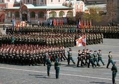 Suvorov Military High School officers and cadets marching through Red Square in the 2013 Moscow Victory Day Parade.