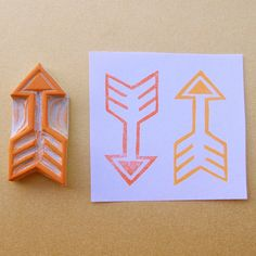 Items similar to Rubber Stamp Tribal Arrow Make Your Own Stamp, Arrow Art, Tribal Arrows, Stamp Carving, Arts And Crafts, Paper Crafts, Handmade Stamps, Arte Popular, Pattern Art