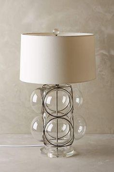 Lathered Glass Lamp Ensemble - anthropologie.com