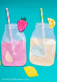 Pretend Play Food – Frosted Lemonade Paper Craft Enjoy summer with a cool frosted lemonade paper craft – you'll realize that you can make lemonade out of anything life gives you – including craft paper! Summer Crafts For Toddlers, Summer Arts And Crafts, Diy Arts And Crafts, Summer Kids, Crafts For Teens, Toddler Crafts, Preschool Crafts, Diy For Kids, Paper Crafts