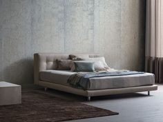 Double bed with removable cover NATHALIE Nathalie Series by Flou ...