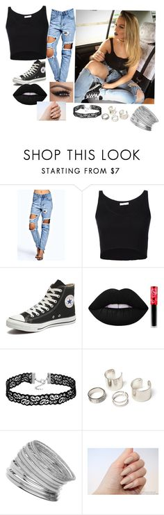 """""""Purrr😻"""" by destinie02t on Polyvore featuring Boohoo, 321, Converse, Lime Crime and Miss Selfridge"""