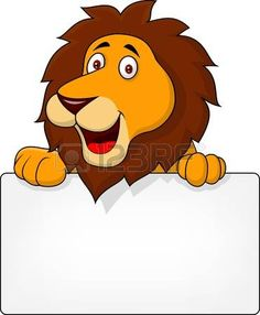 Vector illustration of lion cartoon with blank sign Poster Teacher Classroom Decorations, Boarder Designs, Boarders And Frames, Animal Templates, Blank Sign, Baby Boy Themes, Bookmark Craft, School Murals, Kids Labels