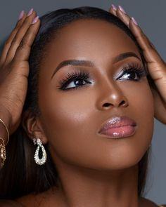 Fancy Makeup, Glam Makeup, Beauty Makeup, Dark Skin Makeup, Dark Skin Beauty, Bride Makeup, Girls Makeup, African Makeup, African Beauty