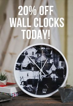 Get 20% Off Wall Clocks Today!