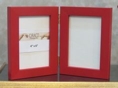 VALENITNE Red Wooden  Frame 4x6 Hinged frame Show off your favourite Memories.
