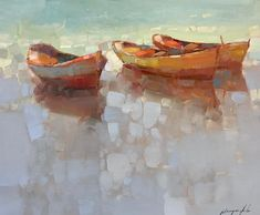 Artist: Vahe Yeremyan Work: Original Oil Painting, Handmade Artwork, One of a Kind Medium: Oil on Canvas Year: 2018 Style: Impressionism, Subject: Boats, Size: Original Oil Painting, Painting, Oil Painting, Oil Painting Abstract, Art, Painting Wallpaper, Famous Artists Paintings, Seascape Paintings, Handmade Artwork