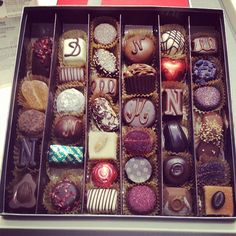 A special favorite ... ♥ Neuhaus Belgium Chocolates. Huge variety. Buy in Brussels or in the duty-free area in Amsterdam's Schiphol Airport.