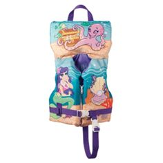 Full Throttle Character Vest - Infant/Child up to 50lbs - Mermaid