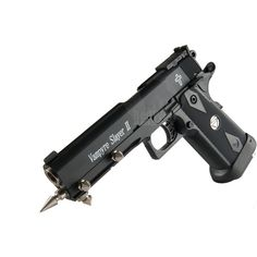 vampire killing gun ❤ liked on Polyvore featuring weaponLoading that magazine is a pain! Excellent loader available for your handgun Get your Magazine speedloader today! http://www.amazon.com/shops/raeind