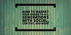 How to Market Your Brand to All Generations with Social Content and More   If your business provides a product or service that appeals to a wide range of age groups you need to develop a marketing strategy that reaches across generations. Theres been a lot of research done on targeting your marketing to specific demographics but how can you create a plan that reaches a broad audience while Read the whole article: CLICK HERE from Sniply: Simply Measured Professional SEO by Premier Detroit SEO…