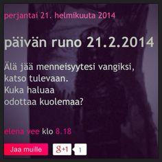 päivän runo 21.2.2013