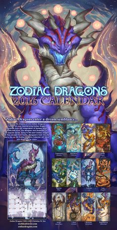 2016 Zodiac Dragons Calendar Stardust Collectors Edition Package are $50 each. (Plus shipping) ********** PRE-ORDER Stardust Edition NOW!  ********** Includes:  -1 of the 2016 Zodiac...