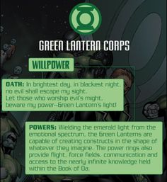 The oath of the Green Lantern corps!