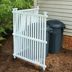 Quick fix! Hide your trashcans, air conditioner unit or any other unsightly yard object with a Vinyl Privacy Screen. No digging required – just shove it in the ground where you need it.