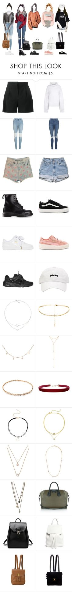 """""""Untitled #456"""" by xxeucliffexx ❤ liked on Polyvore featuring Alberta Ferretti, STELLA McCARTNEY, River Island, GET LOST, Topshop, Dr. Martens, Vans, Puma, Luna Skye and Fragments"""