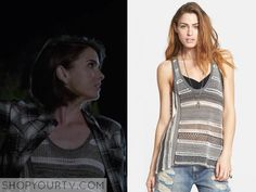 MaliaTate (Shelley Hennig) wears this striped crochet tank topin this week's episode of Teen Wolf. It is the Free People Lovebird Tank. [...]