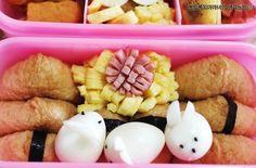 꼬마 유부초밥 도시락, 메추리알 토끼가족, 오징어밥 순대