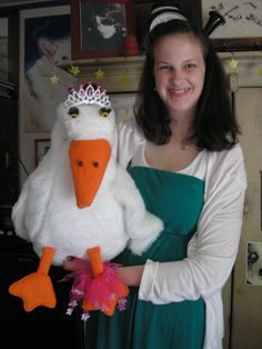 "A Goose Puppet I made for ""Snow White""."