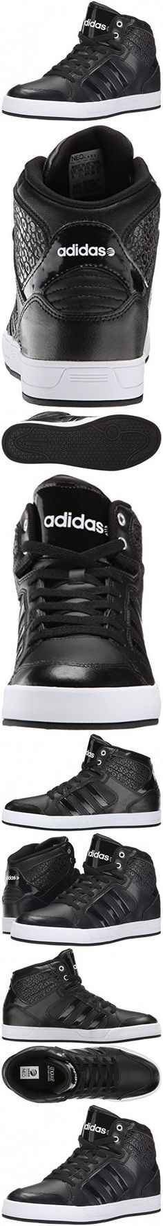 new arrivals 45396 118d1 Adidas NEO Women s Bbadidas Performance Raleigh Mid W Basketball Fashion  Sneaker,Black Black White,10 M US