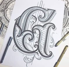 Letter G is coming to finishing lines #handlettering #lettering #typography #drawing #graphicdesign #customlettering #goodtype #thedailytype #typegang #calligraphy #calligraphymasters #retro #detail #black #grey #TYxCA
