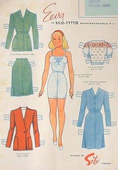 ELVA from Finland | International Paper Doll Bonanza DO NOT READ LANGUAGE...IF YOU DO, PLEASE TRANSLATE.
