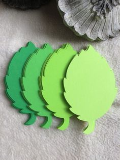 Very Pretty 4 Feathered Greens Paper Leaves Die Cuts Scrapbook Embellishments Tree Crafts, Paper Crafts, Wishing Tree Wedding, Paper Leaves, Rose Leaves, Paper Doilies, Green Paper, Handmade Tags, Romantic Roses