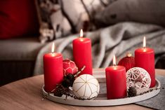 Nyhet og inspirasjon! Vinter og jul fra Kremmerhuset #inspirasjon #jul2019 #jul #kremmerhuset #julepynt #julestemning #julehus #jul19   Kremmerhuset Pillar Candles, Christmas, Xmas, Navidad, Noel, Natal, Candles, Kerst