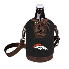 Growler Tote with Growler - Denver Broncos (Black)-Digital Print