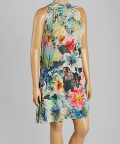 Loving this Floral Spins Sleeveless Dress - Plus on #zulily! #zulilyfinds