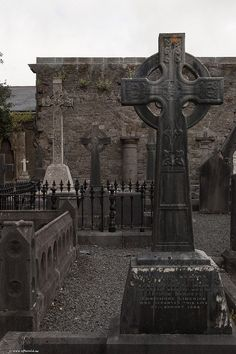 Celtic cross head stone  Graveyard