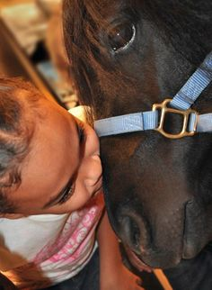 Precious little girls and horses
