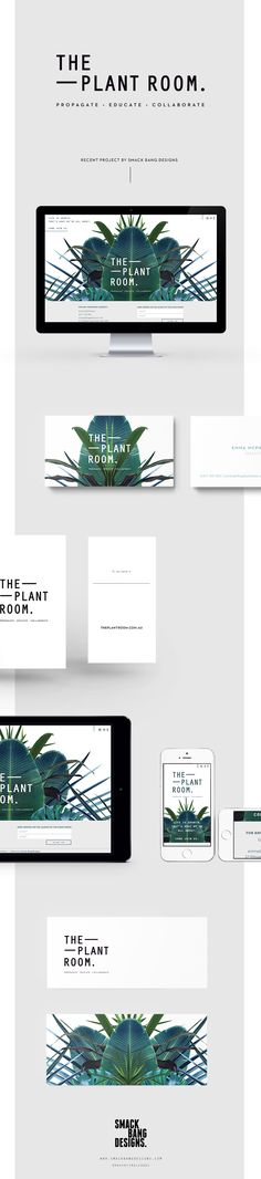 The Plant Room branding by Smack Bang Designs