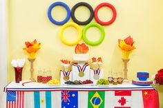 Have the best parties with this DIY Olympic Tablescape! For more DIYs, watch Home & Family weekdays at 10a/9c on Hallmark Channel!
