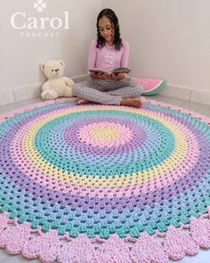 Stylish Looking Crochet Patterns & Ideas To Choose Right now in 2020 Crochet Home Decor, Crochet Art, Crochet Doilies, Crochet Patterns, Crochet Baby Blanket Beginner, Crochet Disney, Rugs And Mats, Cute Bedroom Ideas, Round Rugs