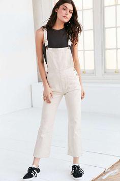 Rollas Original Denim Overall - Cream - Urban Outfitters