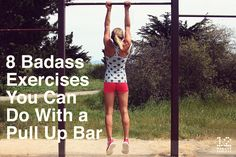 Beauty Secrets 8 Badass Exercises You Can Do With a Pull Up Bar - Here are 8 of the most badass exercises you can do with nothing but a pull up bar. Diy Pull Up Bar, Pull Bar, Marathon, Pilates Reformer, Pilates Studio, Pilates Yoga, Chin Up, Calisthenics, At Home Gym