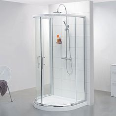 pacific d shaped shower enclosure 1030mm x 900mm one wall. Black Bedroom Furniture Sets. Home Design Ideas