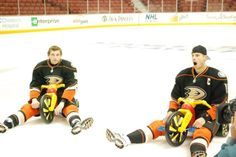 Ryan Getzlaf & Bobby Ryan on Big Wheels is happiness.